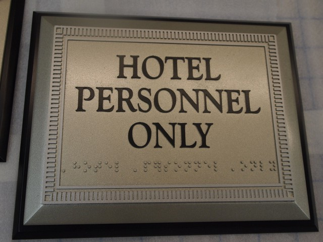 Hotel personnel only